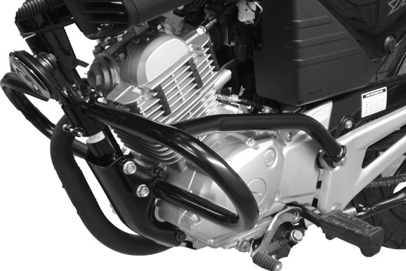 Yamaha YBR125 (2005-) Engine Bars In Black