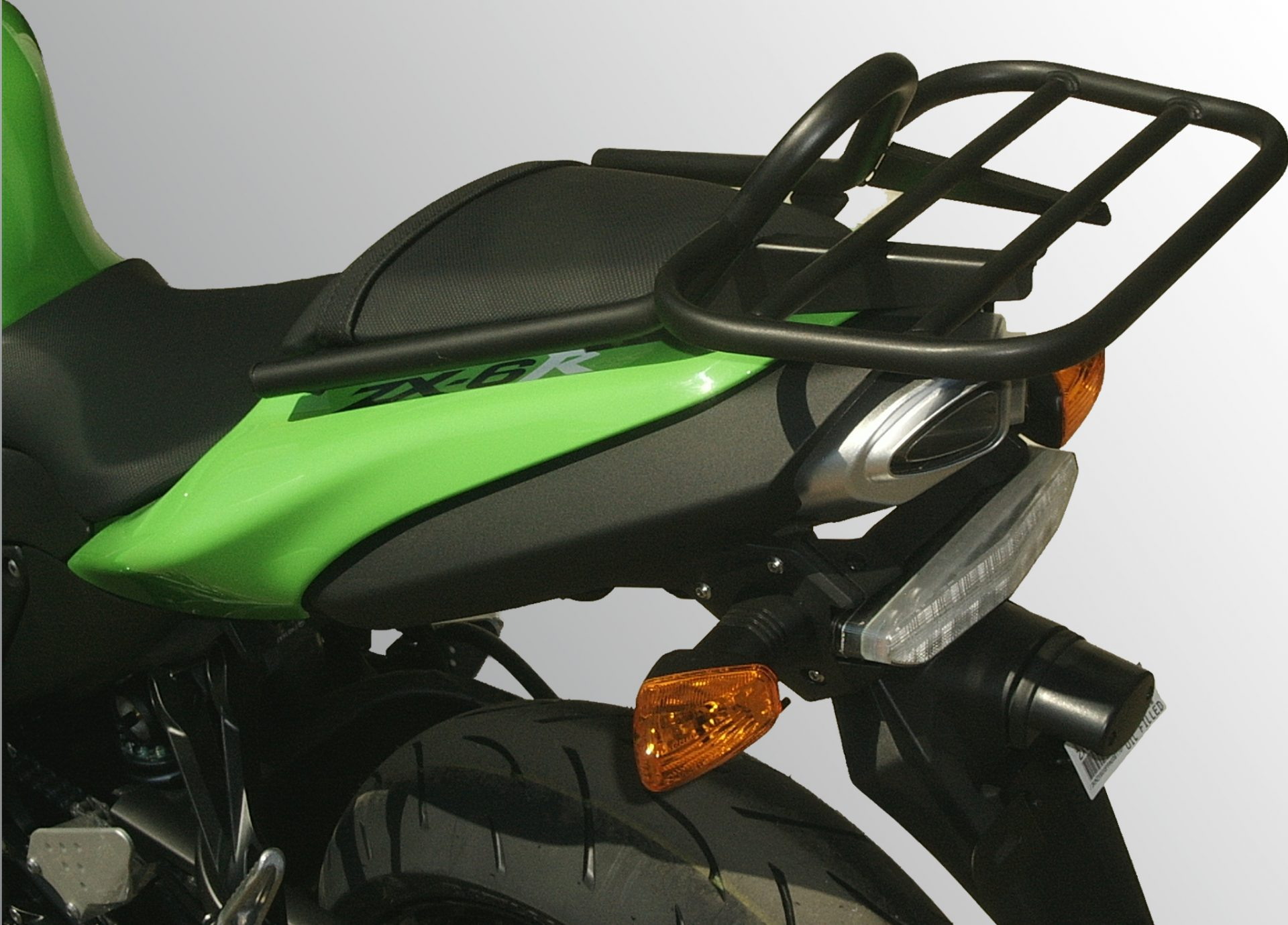Kawasaki ZX6R P7-P8 (2007-2008) Luggage Carrier In Black