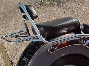 Yamaha XVS650A Dragstar Classic (Incl Padded Backrest) Carrier In Chrome