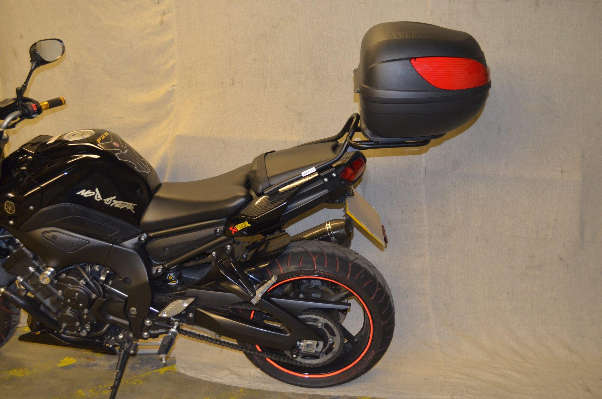 Yamaha FZ8 Luggage Carrier/Top Box Rack In Black
