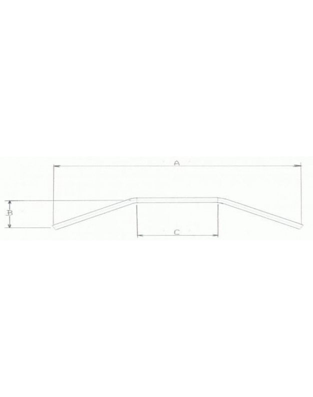 1″ Flat Bar With Wire Dents In Black Or Chrome
