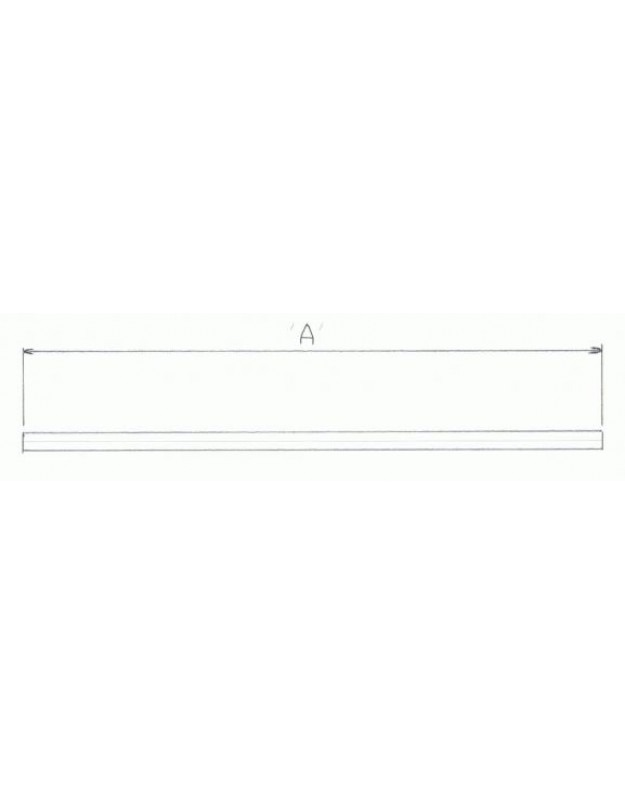 1″ Straight Bar – Long – In Black Or Chrome