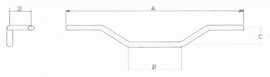 1″ Highway Bar – Low With Wire Holes & Dents In Black Or Chrome